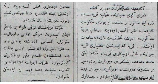 Bakırköy'de Bizans dönemine ait iki asker mezarı bulundu (1910)