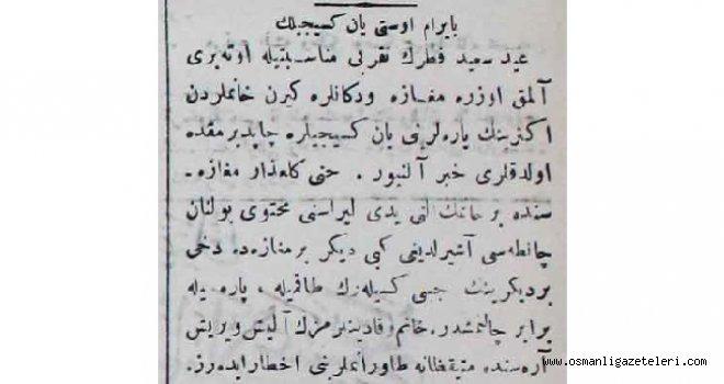 BAYRAM ÜSTÜ YANKESİCİLİK (1901)