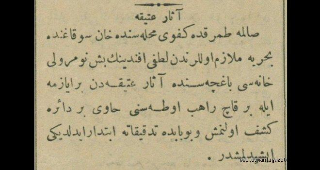 Fatih'te Asar-ı atika (antik eser) bulundu
