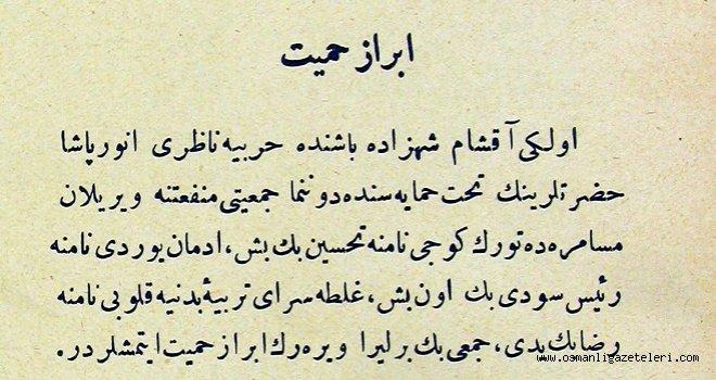 İbraz-ı Hamiyet (vatanseverlik gösterme)