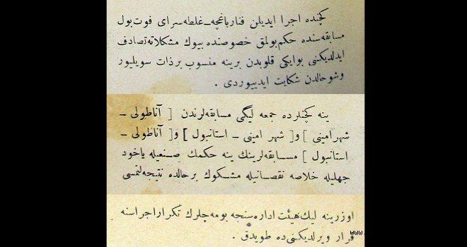 Osmanlı dönemi futbolunda hakem eleştirisi örneği (1914)