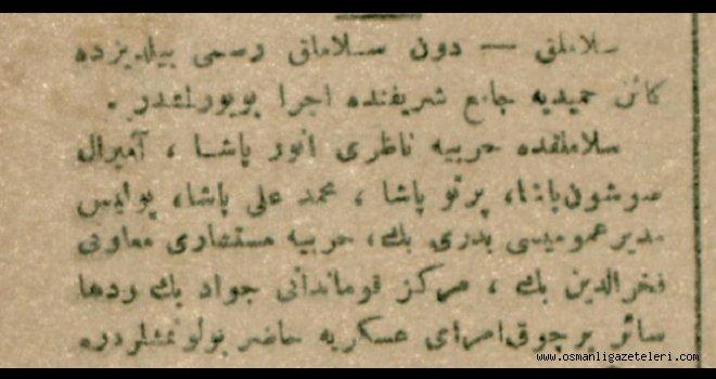 Selamlık merasimi Yıldız'da Hamidiye Camii'nde icra idildi