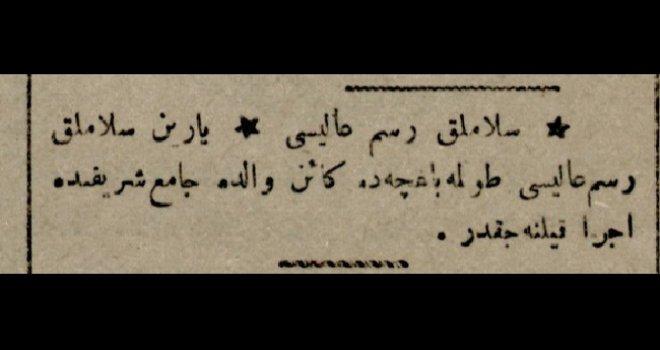 Selamlık Töreni 8 Şubat 1917